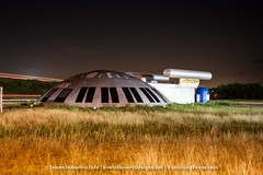 Abandoned Starship Pegasus in Italy, Texas and used the street lights to light up the house and take a couple of shots before heading home.  #snaptexas #instagramtexas #texasinstagram #Texas #igtexas #vanishingtexas #ig_countryside #texas_ig #ruralexplora