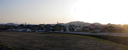 panorama autostitch 915 takefu fukuiken echizenshi echizencity 越前市、福井県、北陸、田舎 ruraljapan hokuriku hinogawa hinoriver sabaecity sabaeshi sunset