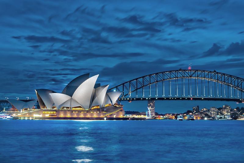 Sydney Opera House At Dusk