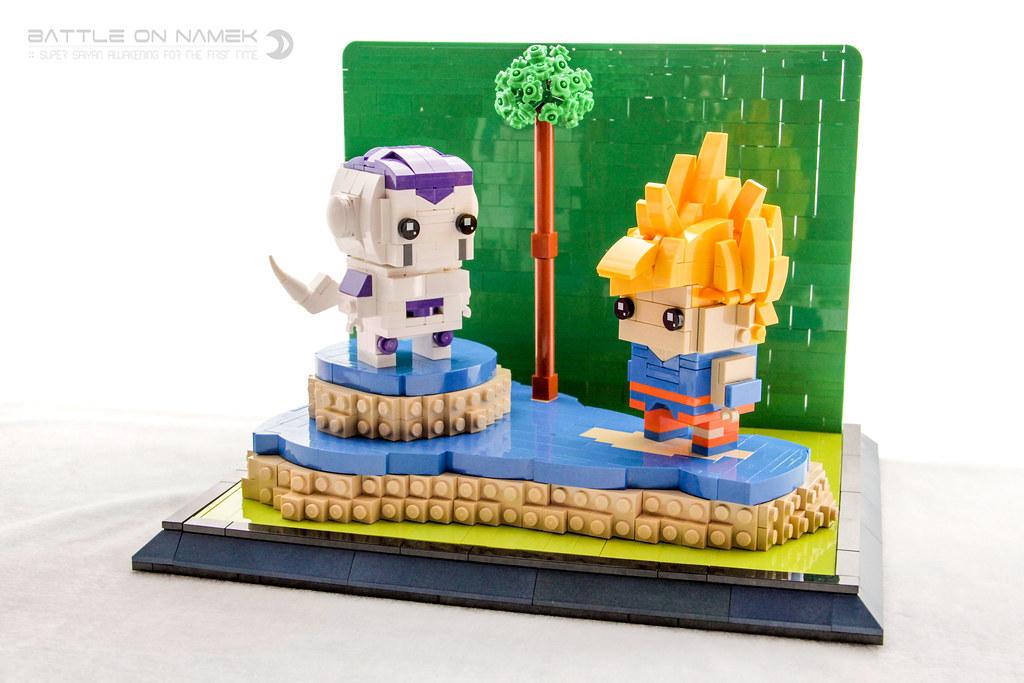 Battle on Namek (custom built Lego model)