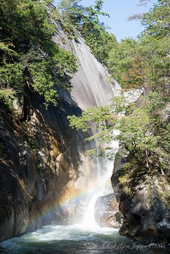 travel japan waterfall rainbow 日本 旅行 yamanashi 2014 虹 昇仙峡 山梨県 甲府市 仙娥滝