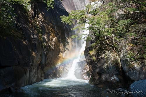 travel japan waterfall rainbow 日本 旅行 yamanashi 2014 虹 昇仙峡 山梨県 nikond600 甲府市 仙娥滝