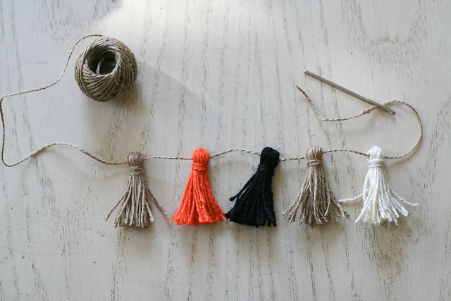 DIY twine garland from dollar bin supplies! | yourwishcake.com