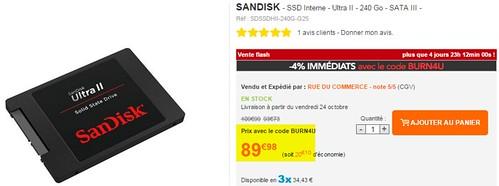 2014-10-23 13_29_03-Sandisk - SSD Interne - Ultra II - 240 Go - SATA III - SDSSDHII-240G-G25 - Achat