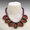 Coleus Necklace needle felt