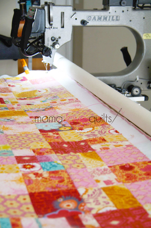 Anna Maria Horner Flannel Quilt_Long arm quilting