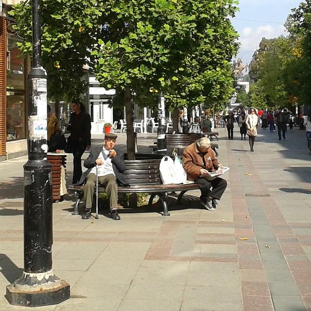 Päivittäistä elämää Skopjessa