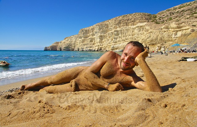 naturist 0000 Red Beach, Crete, Greece