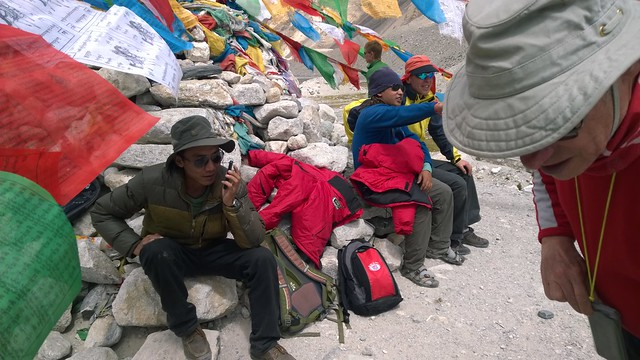 Tashi at Chomolungma, Mt Everest, Base Camp