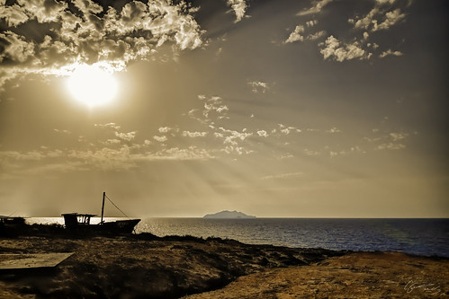 sunset sea sun beach set clouds landscape island nikon ship tunisia tokina zembra haouaria hawaria
