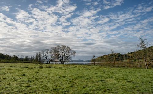 sky lake field clouds landscape 28mm hills pasture hdr halland kungsäter 3exposurehdr fävren