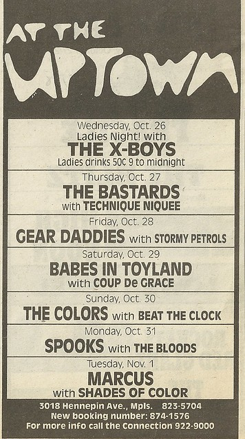 10/29/88 Babes In Toyland/ Coup De Grace @ The Uptown, Minneapolis, MN