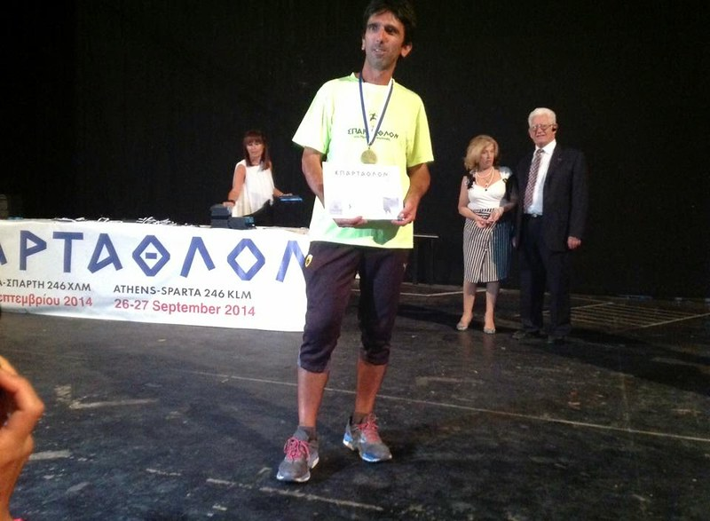 George Zahariadis performed the double Spartathlon in 86 hours,. Photo: advendure.com