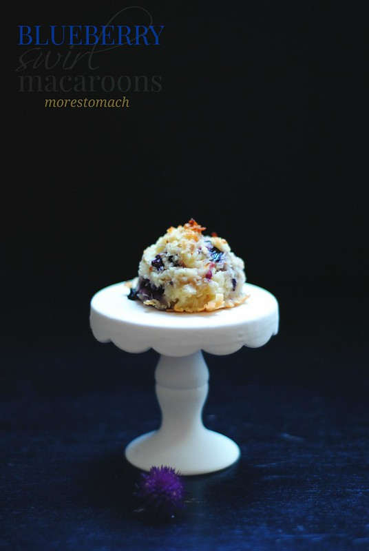 Blueberry Swirl Macaroons