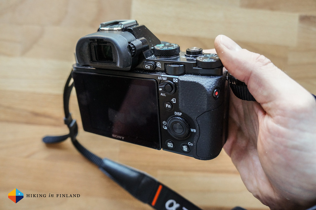 Sony A7R - Back view