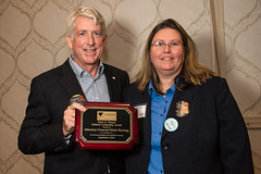 Attorney General Mark Herring recipient of the Mark R. Warner Political Leadership Award and Maggie Sacra