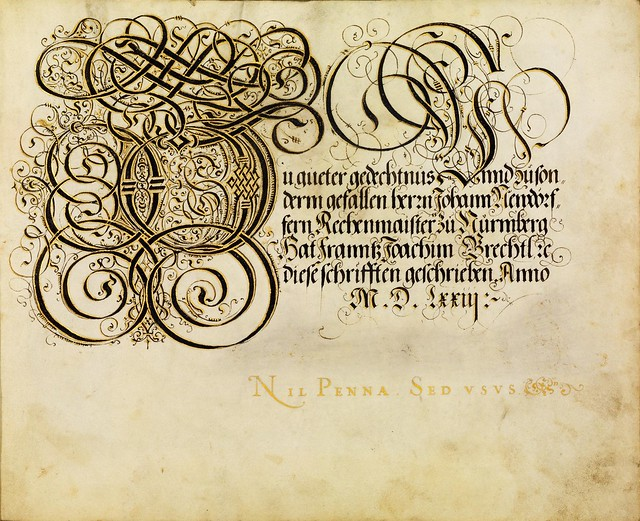 FJ Brechtel calligraphy 16th cent.