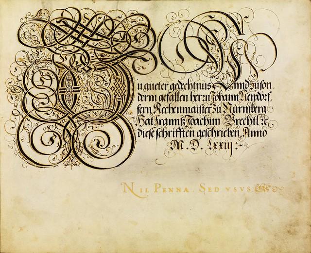 FJ Brechtel calligraphy 16th cent.