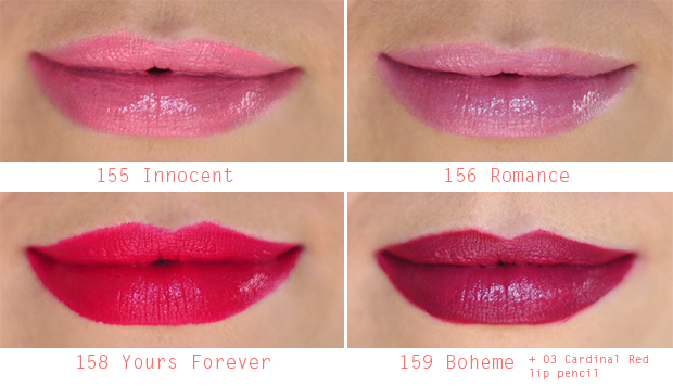 stylelab beauty blog review Gosh Velvet Touch lipsticks fall winter 2014 lip swatches