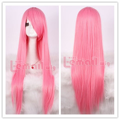 80cm long pink straight cosplay hair wig CW280-H