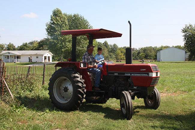 Nat-on-tractor
