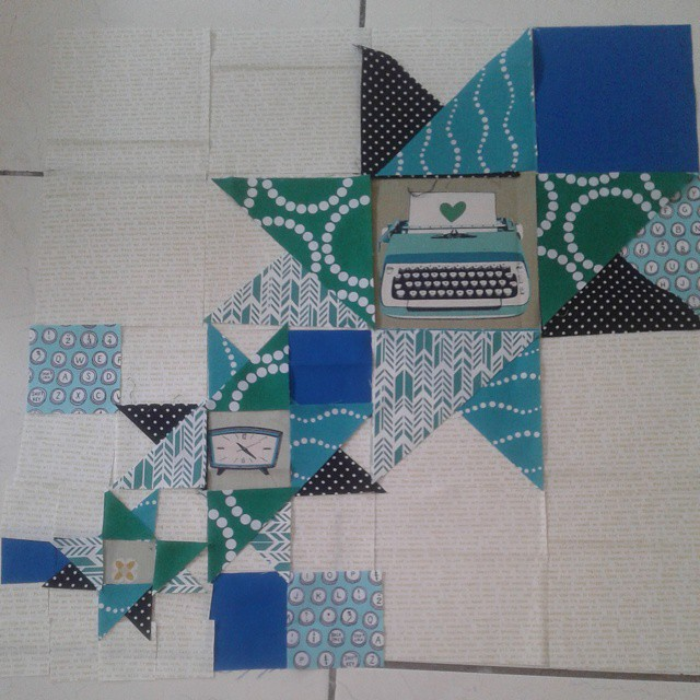 Ok partner, this is my plan. Any thoughts before I sew it together? #igminiswap #flossysgroup