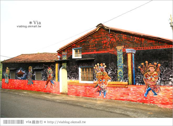 【關廟彩繪村】新光里彩繪村~在北寮老街裡散步‧遇見全台最藝術風味的彩繪村67