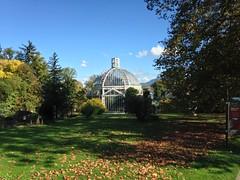 Jardin Botanique in Geneva on a beautiful autumn day
