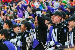 Celebration ::  	   The Northwestern University 'Wildcat' Marching Band performs at Ryan Field as Northwestern Football hosts Wisconsin on October 4, 2014.  Photo by Daniel M. Reck '08 MSEd.