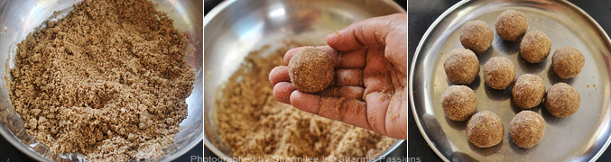 How to make sathu maavu ladoo - Step4