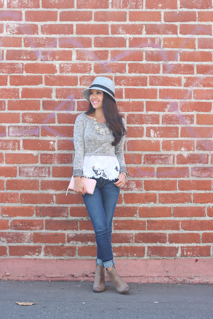 Gray Wool Hat and Clarks Booties-5