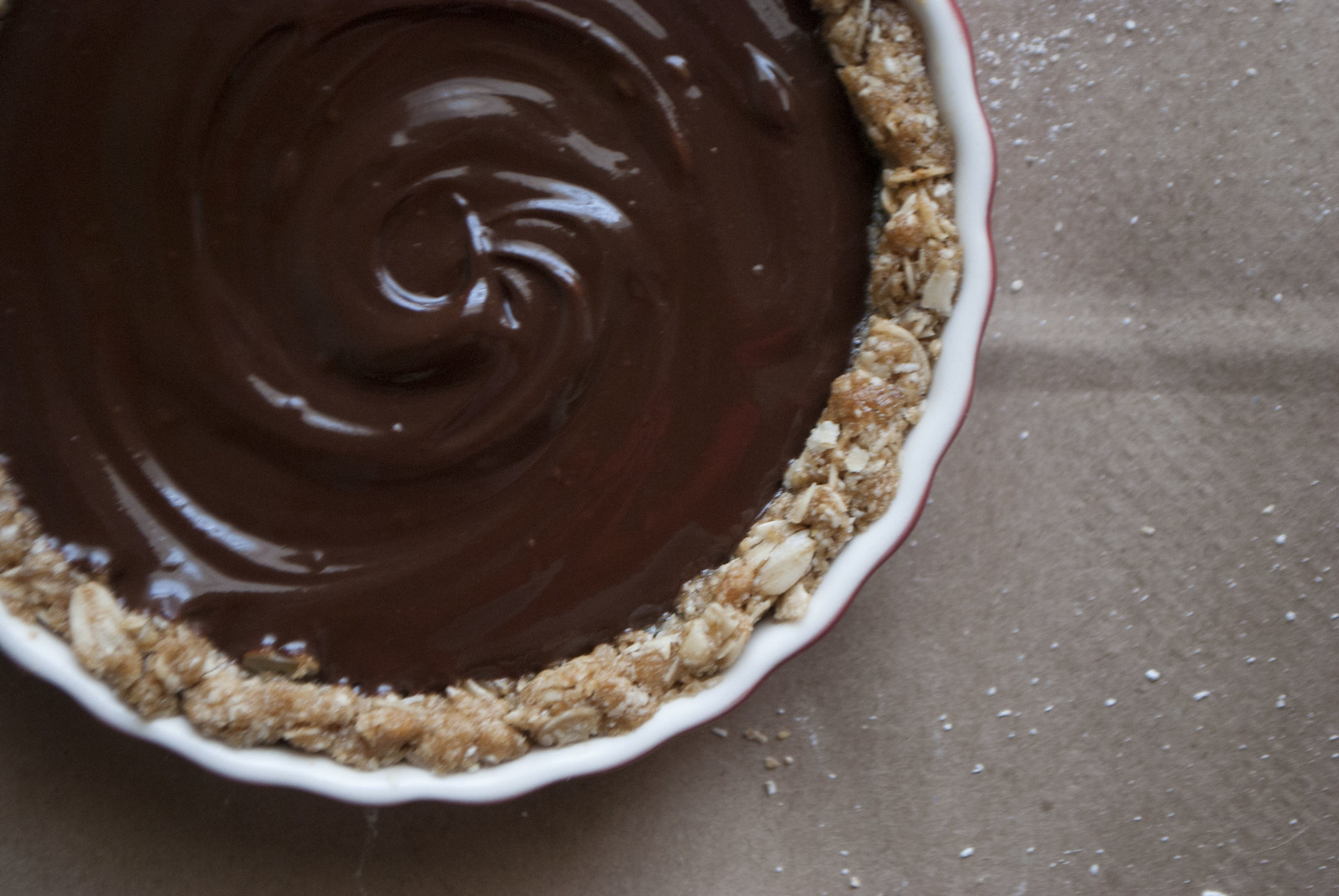 Salted Chocolate Oat Tart for Two | Kitchen in the Hills