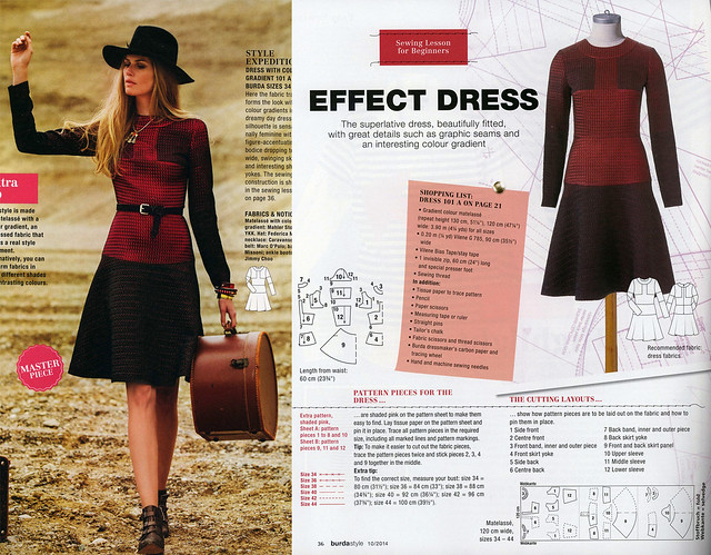 Burda-2014-October Patchwork Dress