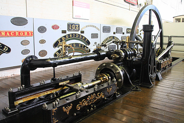 Tramway winding engine