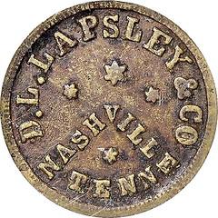 TN690C Black issuer Civil war token