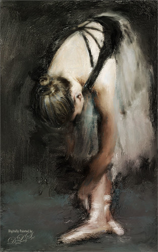 Image of a painted ballerina