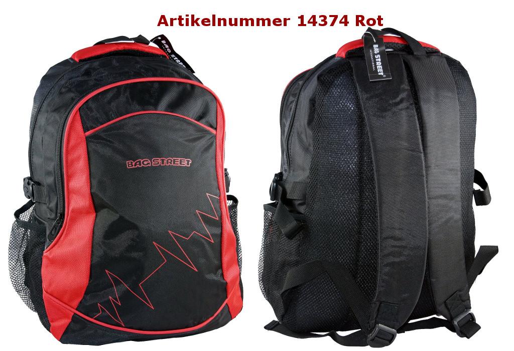 Rucksack 14374 rot