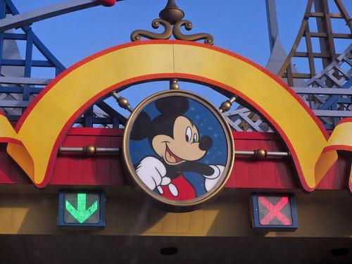 Arriving at the Disneyland Paris parks' parking lot