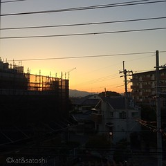 thanks for today! have a nice weekend :) #osaka #sunset #japan #nofilter