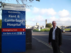 Stuart Jeffery outside Kent and Canterbury Hospital