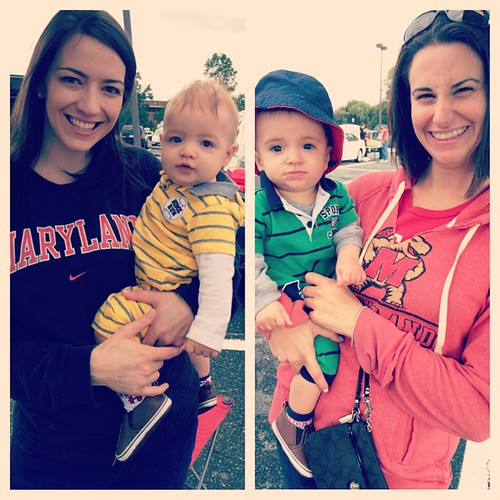 Twins' first tailgate! #GoTerps #BeatOSU.