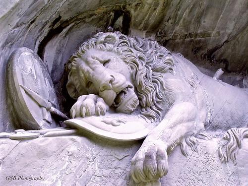lionmonument lucerne switzerland lionoflucerne lionstatue swissguards grotto monument ₪historymystery₪society luzern lion sculpture 1500v60f 1000v40f 100v10f 250v10f 500v20f olympus