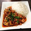My brother's ma po tofu with rice