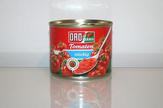 06 - Zutat Tomaten stückig / Ingredient tomatoes in pieces