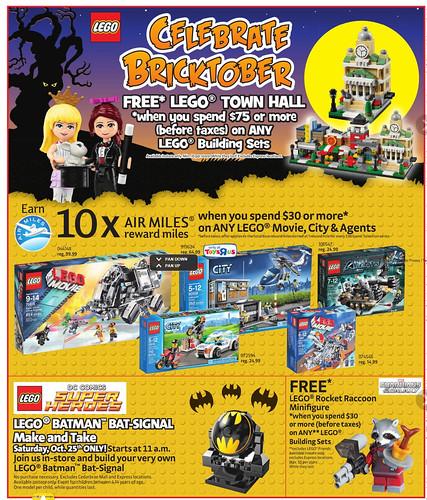 Toys R Us Bricktober Canada