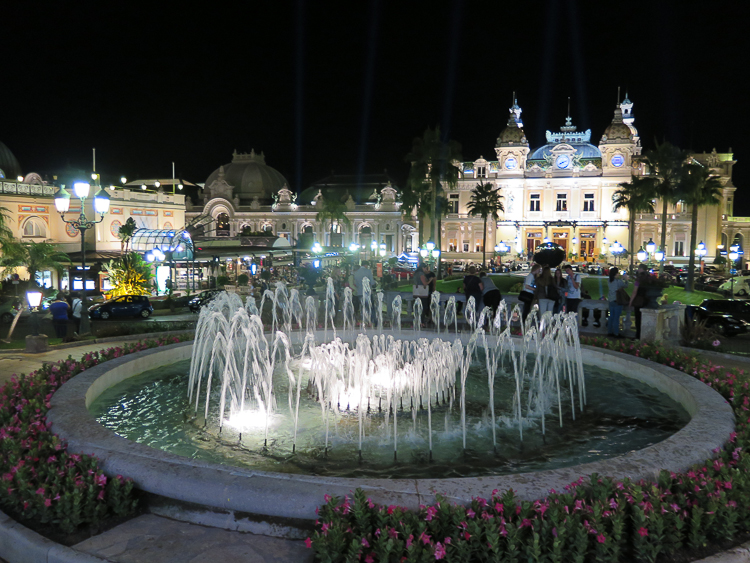 Fountain at Place du Casino Monte Carlo