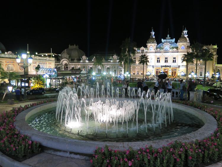 Fountain at Place du Casino Monte Carlo