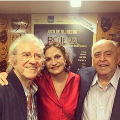 Rosamaria Murtinho e Mauro Mendonça foram ver Juca de Oliveira vivendo 'Rei Lear' no teatro... #AplausoBlogAuroradeCinema @roseiramur