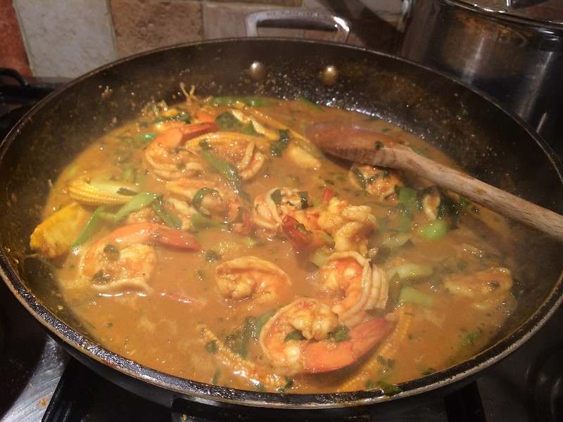 Red Thai Prawn Curry : Ready to serve