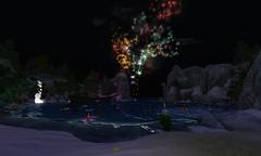 spectacular fireworks for fallen gods and goddesses